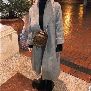 Wool Shawl Collar Midi Coat